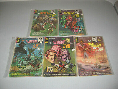 TWILIGHT ZONE - GOLD KEY Bronze Age  - 5 ISSUE LOT #29,33,34,36,44 - GOOD 2.0