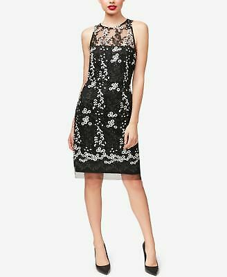 e86dc529 BETSEY JOHNSON $138 Womens New 1288 White Floral Sheer Embroidered Dress 2  B+B