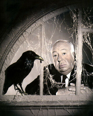 "ALFRED HITCHCOCK THE BIRDS DIRECTOR PRODUCER 1963 4x6"" HAND COLOR TINTED PHOTO"