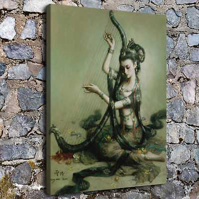 """16""""x20""""Abstract zeng hao god HD Canvas Prints Home Room Decor Wall art picture"""