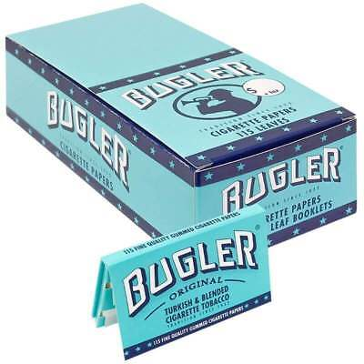 """12 x Bugler Cigarette Rolling Paper 70mm """"Single Wide"""" - Free Express Shipping"""