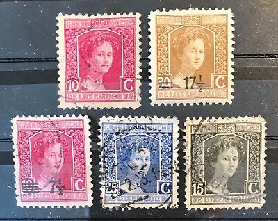 Luxembourg  Postage stamps Duchess Marie Adelaide lot of 5 old               F