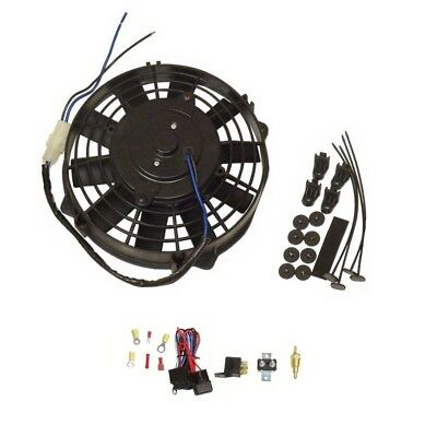 8'' Staight Blade Electric Radator Cooling Fan 12v  with Thermostat Kit