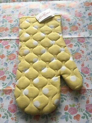 Cath Kidston Yellow Button Spot Oven Glove, New With Tags