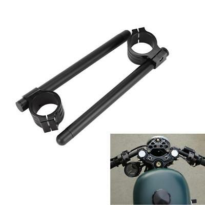Motorcycle Handlebars, Grips & Levers Pair Black Racing 50MM Clip On Handle Bar Handlebar for Yamaha YZF R1 R6 R6S Motorcycle Parts