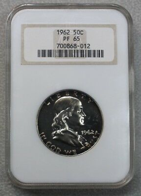 1962 Franklin Proof Silver Half Dollar NGC PF-65 ( older holder / 50C )
