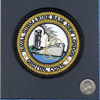 GROTON CONNECTICUT        Y US NAVY BASE PATCH NAVY SUBMARINE BASE NEW LONDON