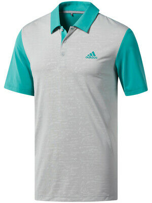 Adidas Ultimate365 Camo-Embossed Polo - True Green/Grey Two -  Mens