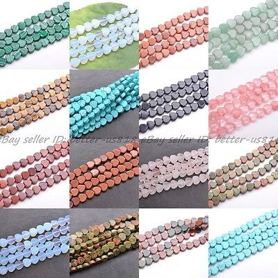 Wholesale 10Pcs Natural Gemstone Heart Loose Spacer Beads 10X10MM