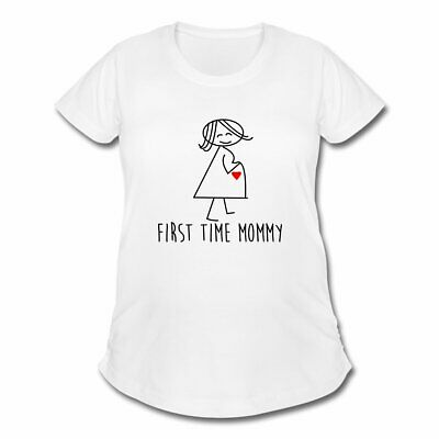 bf6654ad00bbb PREGNANCY FIRST TIME Mommy Women's Maternity T-Shirt by Spreadshirt ...
