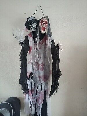 Halloween Decor Goth Gothic Punk Emo Cute Scary Spooky Ghost Skeleton Circus...