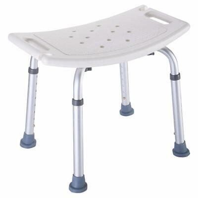 Chair Adjustable Medical  Bench Seat White  Bathroom Shower Stools