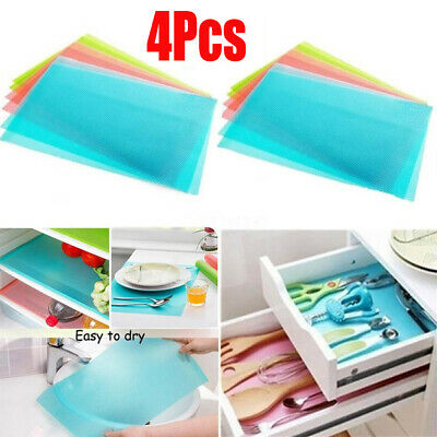 4Pcs Anti-bacterial Anti-fouling Mildew Moisture Absorption Refrigerator Pads