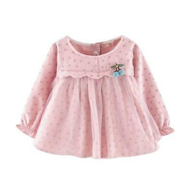 Long Sleeve Dress Spring Girls Dresses Children Clothes Baby