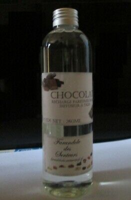 Recharge Solution Parfumee Sans Alcool Pour Diffuseur A Tiges *chocolat* 260Ml
