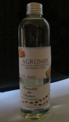 Recharge Solution Parfumee Sans Alcool Pour Diffuseur A Tiges *agrumes* 260Ml