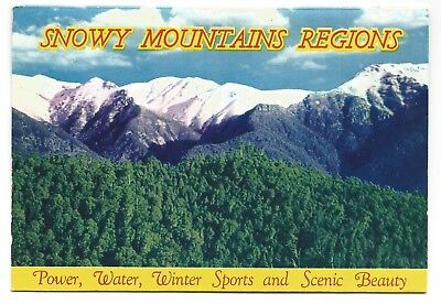 NSW - c1960s VIEW FOLDER - SNOWY MOUNTAINS REGIONS, NEW SOUTH WALES