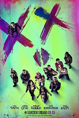 SUICIDE SQUAD MOVIE POSTER DS N.MINT Original 27x40 Face Advance WILL SMITH 2016