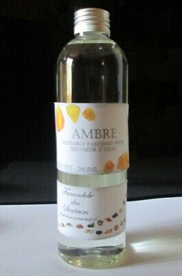 Recharge Solution Parfumee Sans Alcool Pour Diffuseur A Tiges *ambre* 260Ml