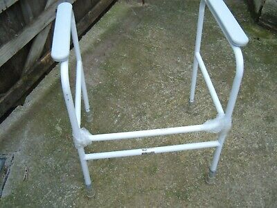 Adjustable & Fixed Height Toilet Surround Support Frames Seat Disability Aid