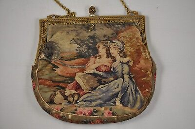 Bourse Minaudiere Ancien Broderie Antique Purse Embroidery