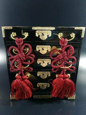 Wooden Chest of Drawers /Maniature Hina Doll Tansu / Japenese Vtg