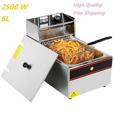 2500w First Cl Electric Deep Fryer Pot Stainless Steel Home Liance Kitchen