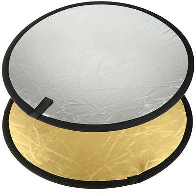 60cm Double Sided Collapsible Photography Reflective Film Photo Reflector Board