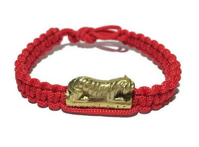 Charm Bracelet Monk Blessed Wristband Tiger Amulet Fortune Lucky and Protection