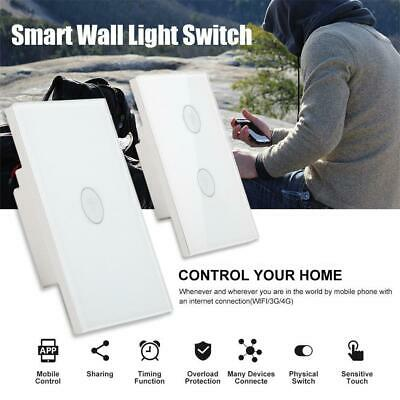 WIFI Smart Wall Light Touch Panel Switch App Timing Socket For Alexa Google Hom