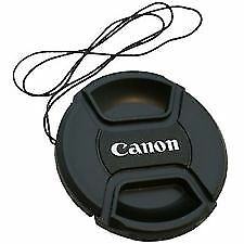 55mm Center Pinch Snap-On Lens Cap for Canon With Logo