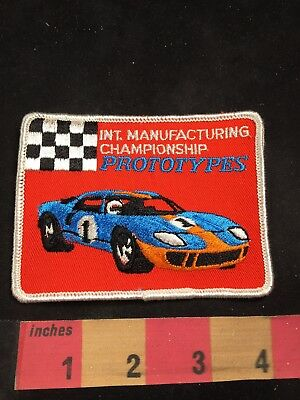 Vtg INTERNATIONAL MANUFACTURING CHAMPIONSHIP PROTOTYPES Car Race Patch 80NT