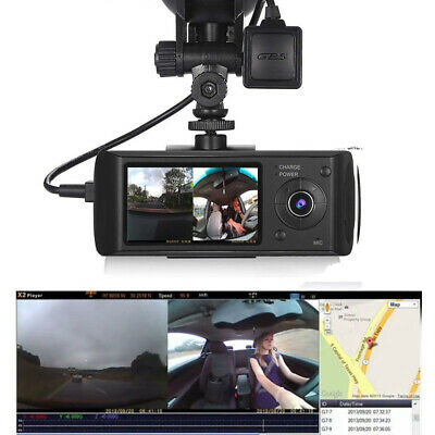 "2.7"" In Car Taxi CCTV Front & Rear Dual Camera HD GPS Video Journey Recorder Cam"