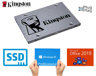 SSD Hard Drive 120GB to 960GB With Genuine Windows 10 Professional + Office 2019