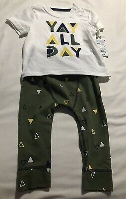f731c5d3e2bc CAT AND JACK Baby Boy s YAY ALL DAY Top And Pant Set 6-9 Months NWT ...