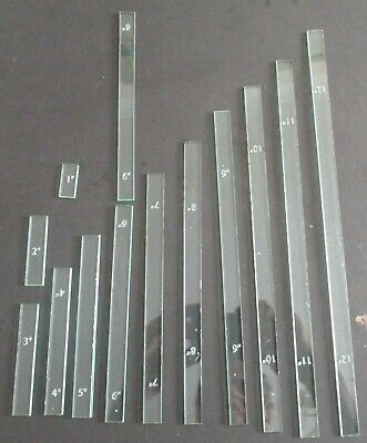 GLass effect Acrylic Wargamming Inch Measuring sticks 1-12 inch sizes 11in all