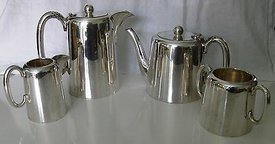 Antique Walker & Hall 4-Piece Silver Plate Tea Set, 1935 Great Condition,1 Owner