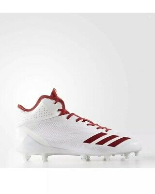 outlet store ddeab d04cc NEW Adidas Adizero 5-Star Mid 6.0 Football Cleats Size 15 White Red