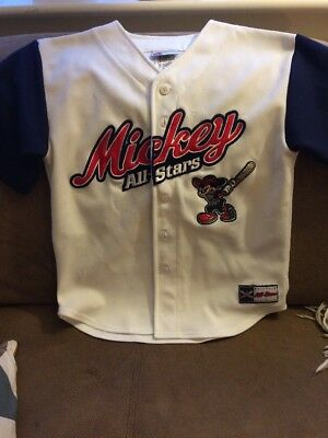 Disney Mickey mouse  All Stars baseball shirt Size Medium (7/8)