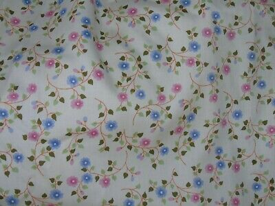 "Vintage Style M&s Retro Floral Curtains Pair  W 86"" X L 54"" Fabric Material"