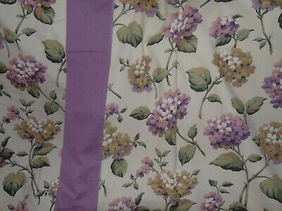 "Hydrangea Floral Country Curtains 100% Cotton  by Snow Queen Lined 88""W 54""D"