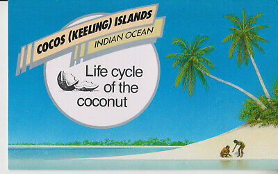 COCOS (Keeling) ISLANDS MNH 1988 STAMP PACK LIFE CYCLE OF THE COCONUT SG 180-183