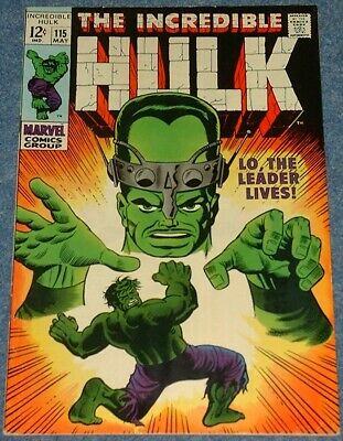 INCREDIBLE HULK # 115 & 116 (1969) - The Leader - Classic Silver Age Marvel!