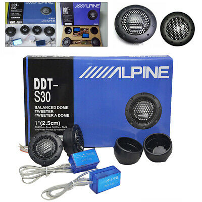 "New Alpine DDT-S30 25MM 1"" 360W Dome Balanced Car Speakers Tweeters Crossovers"