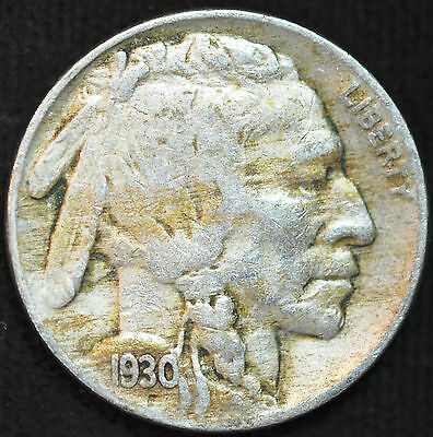 1930 P, Buffalo Nickel, Fine Condition, Free Shipping in USA, C2090