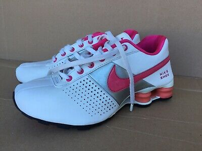 size 40 6e9a7 ff2f1 NIKE SHOX Deliver (GS) White Leather Lace Up Athletic Girl s 5 Y Big Kids