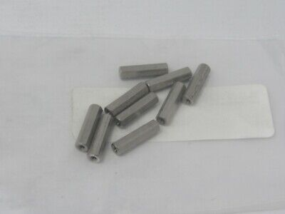 Threaded Hex Spacer, Lot of 9 #2061-256-SS-20