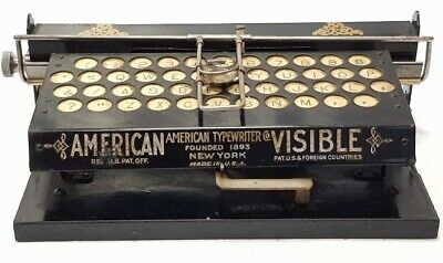Antigua maquina de escribir AMERICAN VISIBLE circa 1899 rare antique typewriter