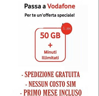 Special 50Gb Minuti Illimit Coupon Passa A Vodafone Tim Wind 3 Spedizione Gratis