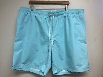 54fbc8f371 LANDS' END MEN'S XL(40-42) Aqua Shell Print Volley Swim Shorts or ...